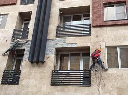 پیچ کردن سنگ ساختمان