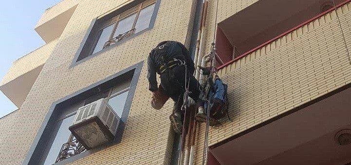 پوشش درز انقطاع با طناب