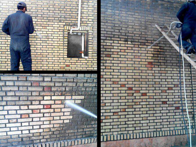 سندبلاست نمای ساختمان