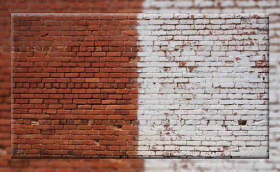 سندبلاست دیوار آجری