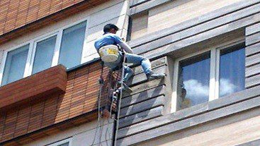 بستن ما بین ساختمان با طناب