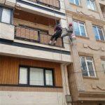 پیچ و رولپلاک سنگ ساختمان با طناب